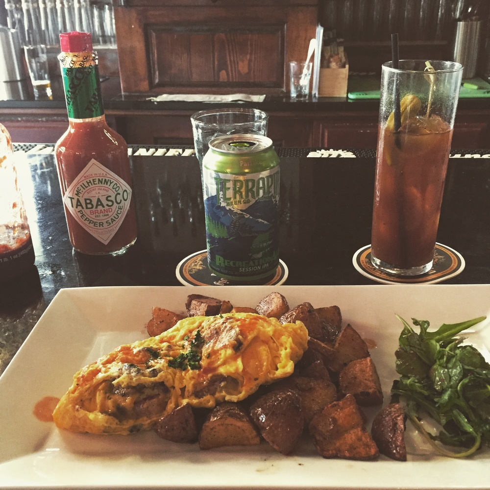 All things pig omelet and great bloody mary in Athens GA before the Classic City Beer Festival