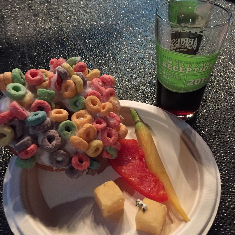 Fruit Loop VooDoo Doughnut at the CBC kickoff party