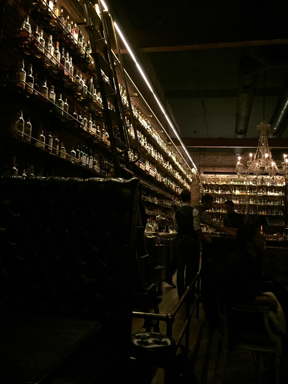 Got some study time in at the Multnomah Whiskey Library. A very extensive collection!