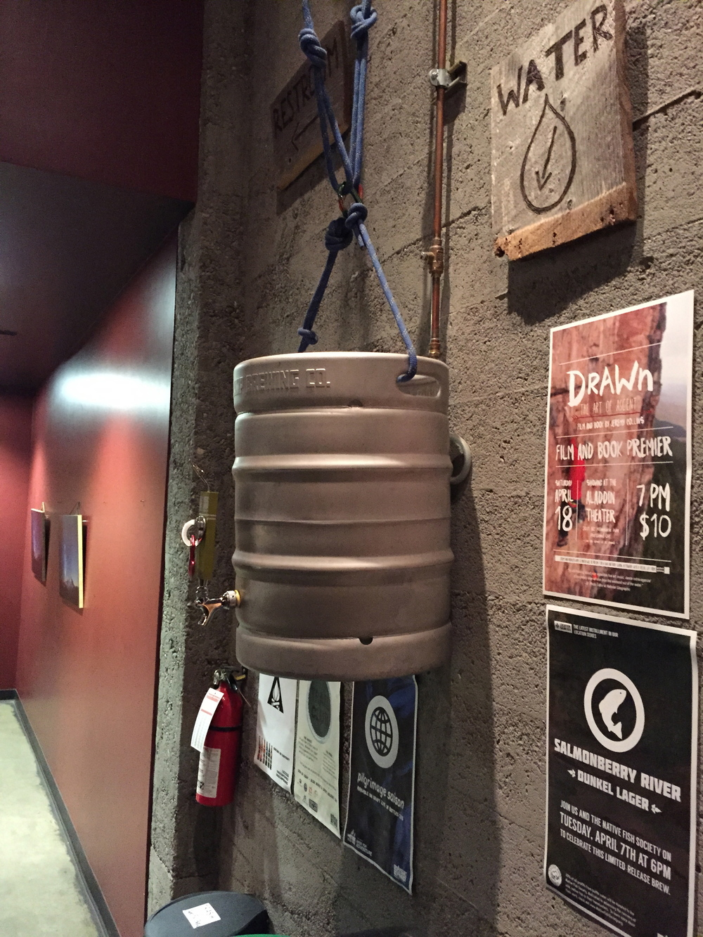 Base Camp Brewing Company serves water in only the most increadible way.