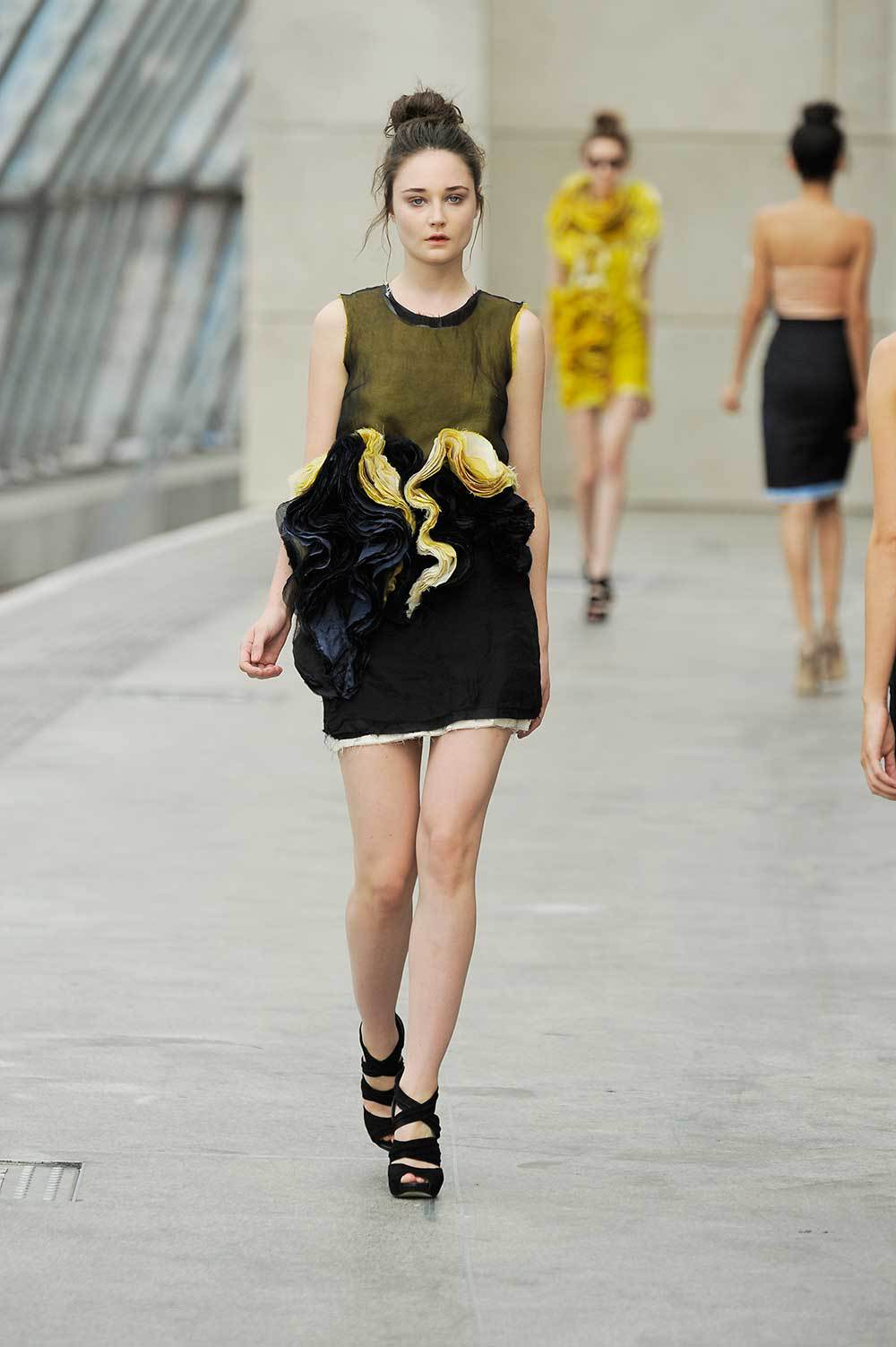 Felicity-Brown-SS11-09-Mustard-Silk-Layered-Tee-&-Ruffle-Skirt.jpg