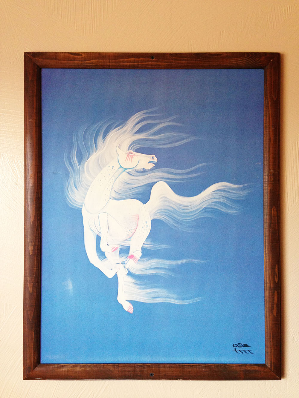 The Whitehorse above my bed