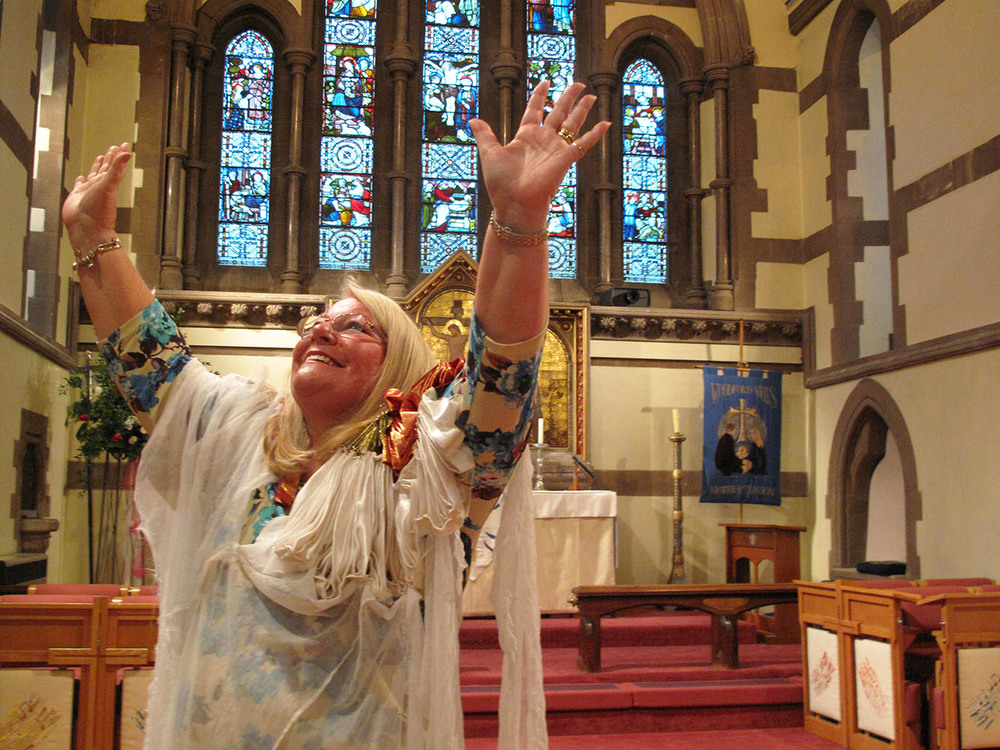 The Middle man - Sheila  Essex   Sheila is a healer, she tells she is just the middle man. Sheila is the last person I photograph in Essex. She tells me I will work for Jesus and the following week in LA, it turns out to be the case.