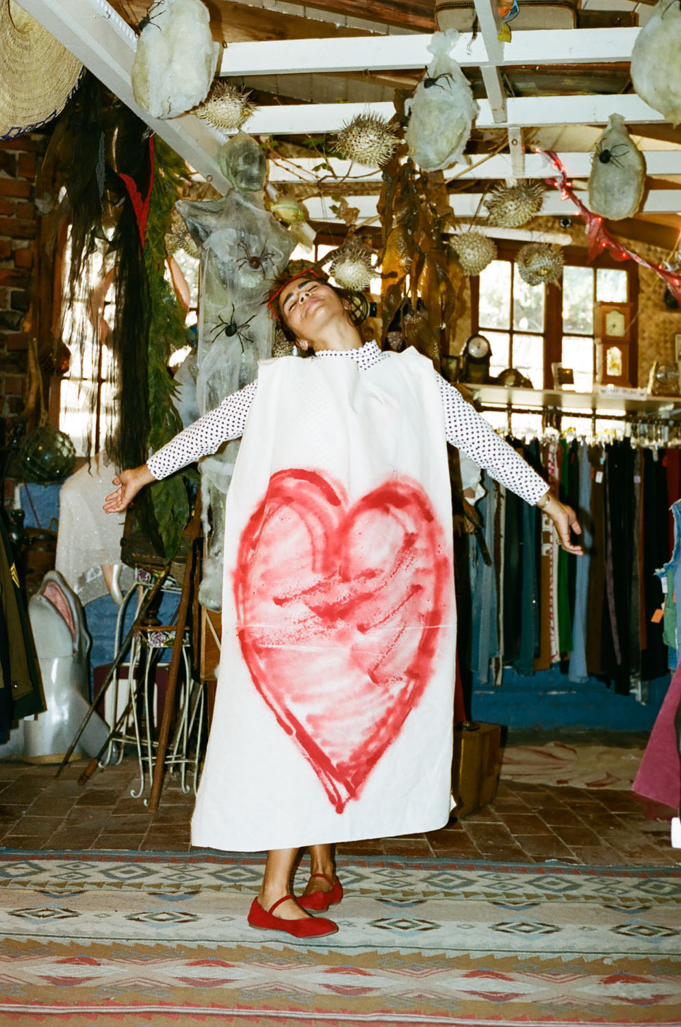 """""""Love is laughter"""" Lily in the Treasure cave shop"""