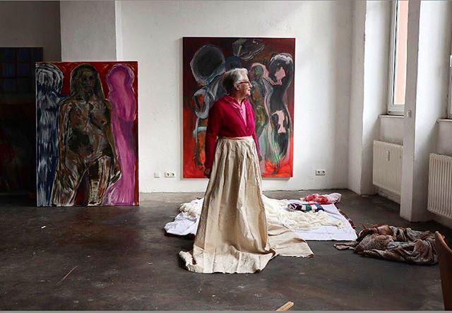 Caroline. Carolin's mum in the studio - Frankfurt.#langestrausse31 @carokropff