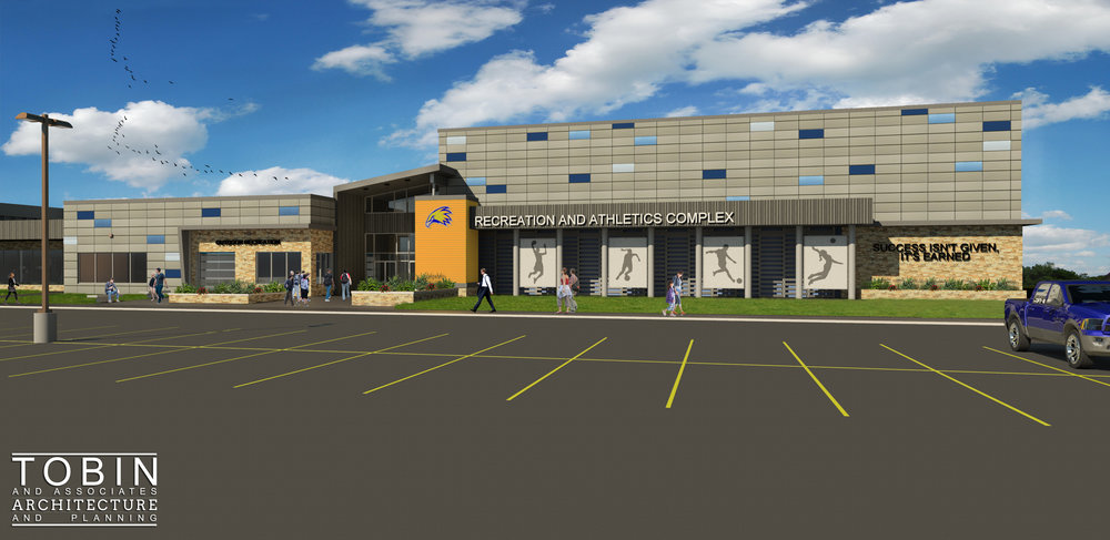 Laramie County Community College - Recreation and Athletic Complex - Schematic Design of Exterior Renovation