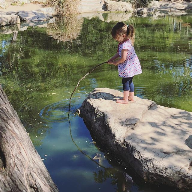 Celebrated Earth Day with a pond and a good stick. 🙌 🌎