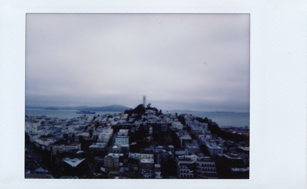 Fuji Instax: Friday Morning overlooking the San Francisco Bay