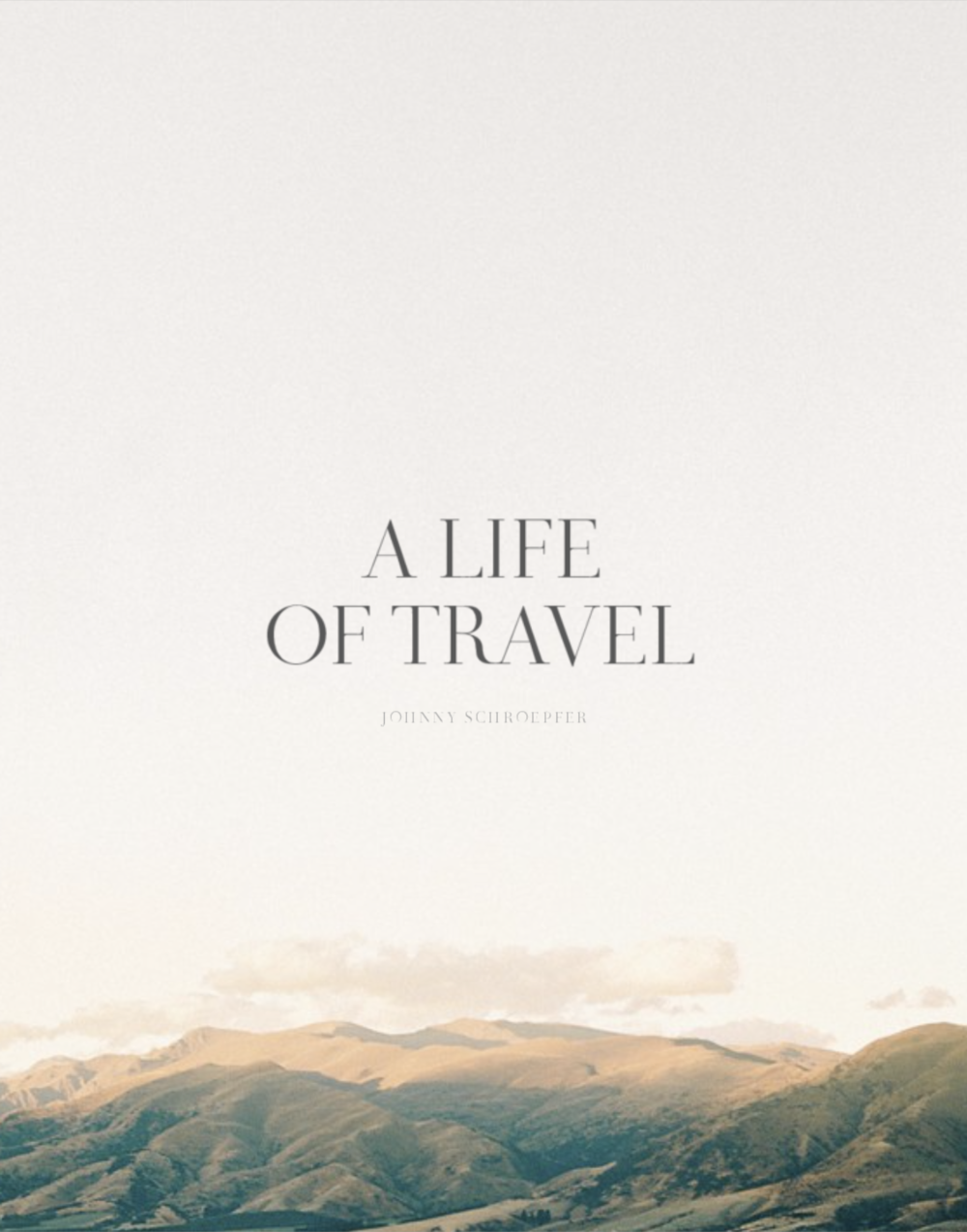 A Life of Travel  Cover