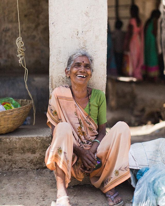 • Struck by her smile • Met this woman today while getting lost in the villages of Danam, India. She's definitely the highlight of my trip.