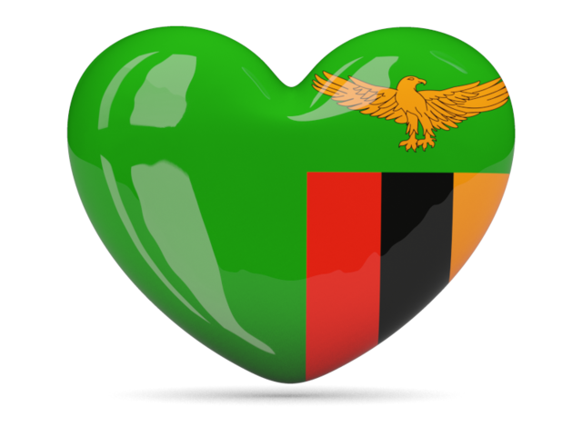 Zambia flag glossy heart graphics wallpaper.png