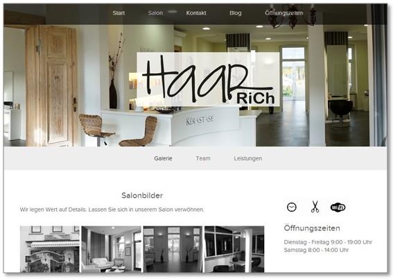 Screenshot der neuen Homepage