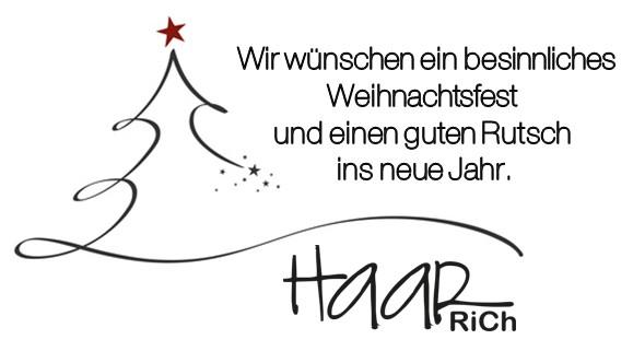 Haarrich wünschr frohe Weihnachten