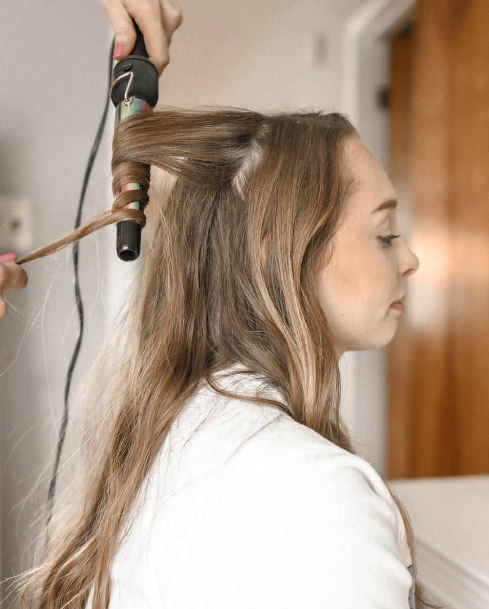 locken+lange+Haare+Valentinstag+Frisuren