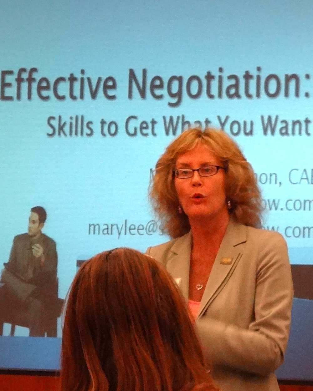 Mary Lee speaks to leaders on Effective Negotiations and Employee Engagement. Read the testimonials!