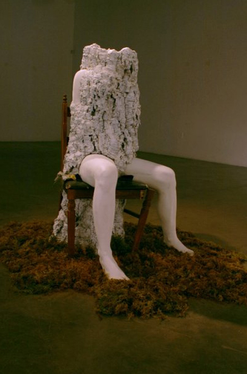 Phantom Limb  |  cork, moss, wood + gypsum cement  |  2008