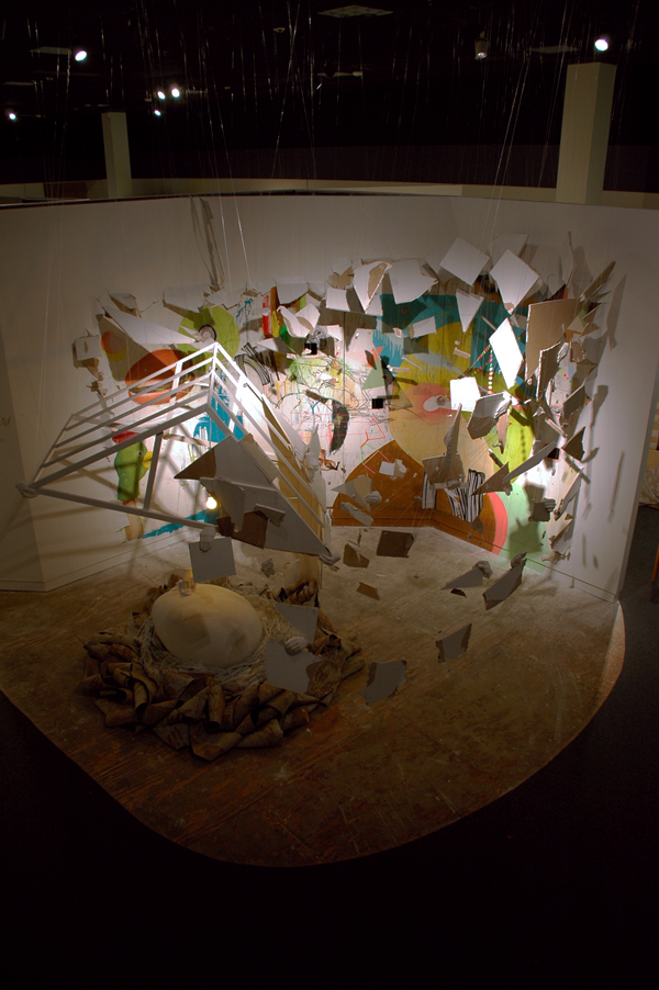 Build + Destroy  |  site-specific installation at the Tampa Museum of Art in collaboration with artist Anthony Zollo  |  2008