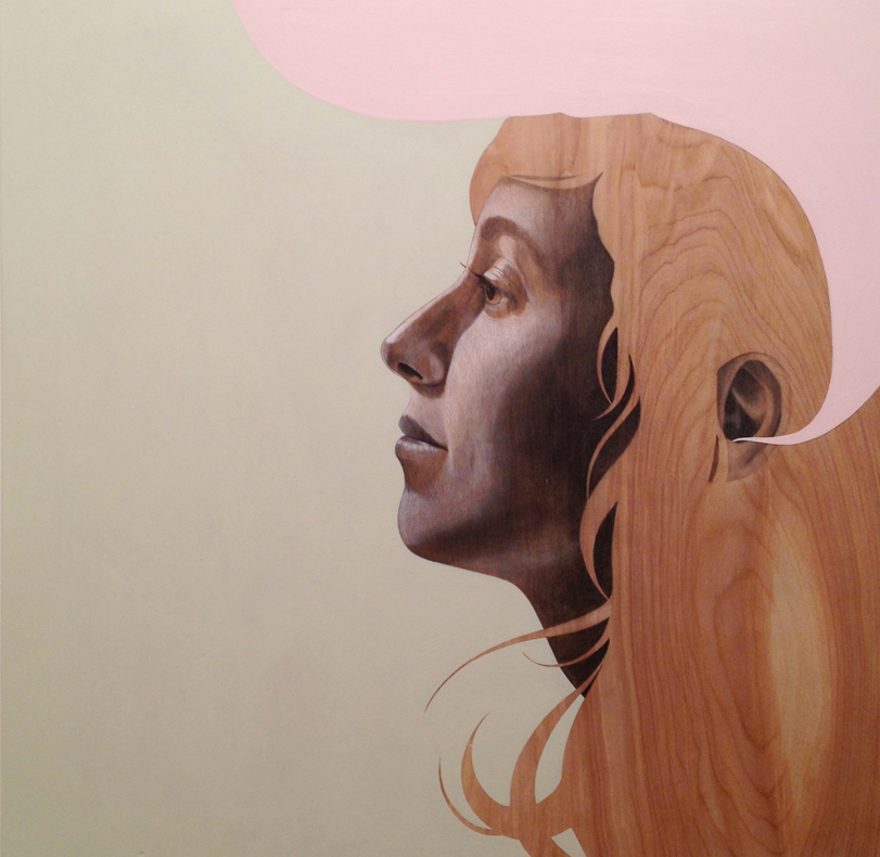 Angela  |  graphite + acrylic on wood panel  |  2013