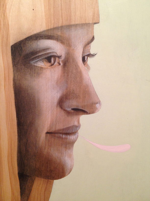 Liza  |  graphite + acrylic on wood panel  |  2013