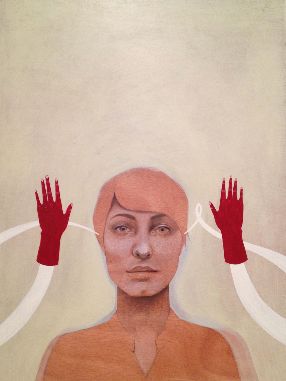 Self Portrait #2     graphite + acrylic on wood panel     2013