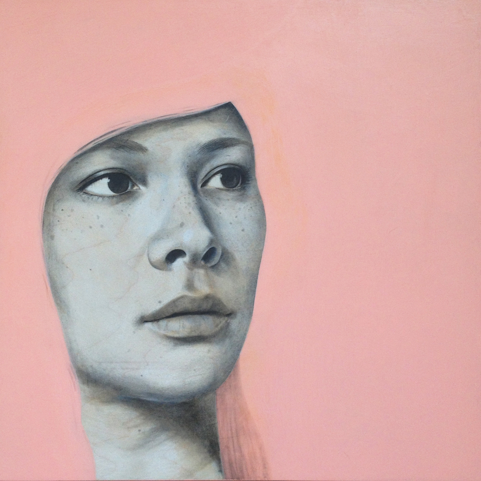 Dana | graphite + acrylic on wood panel | 2014