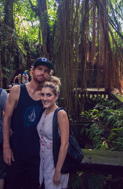 Kilian and I having a tourist moment inside the Sacred Monkey Forest