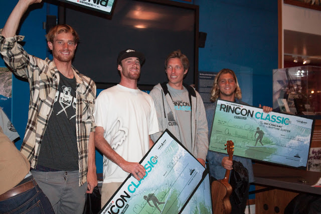 Pro Final winners Kilian, Matt, Pete, and Conner