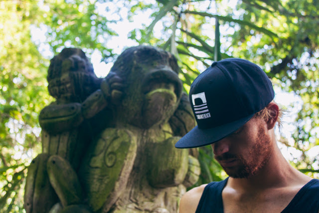 Kilian cruzing inside theSacredMonkey Forest.