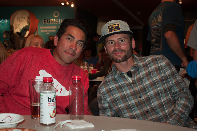 Chris from Sundance Beach and Andrew reppin from Arbor Skateboards