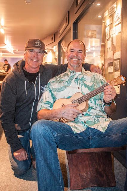 Surf and Wear's Beachhouse owner Roger Nance winning the Lifetime Achievement award