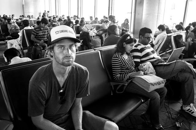 Kilian getting ready to depart at LAX.