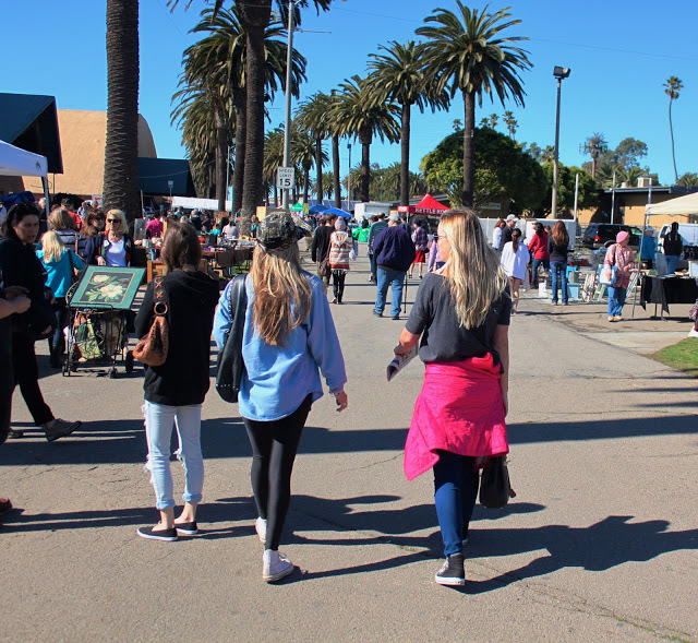 Rachel and I strolling through the market at the Ventura Fair Grounds.