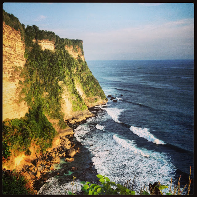 The cliffs at Uluwatu