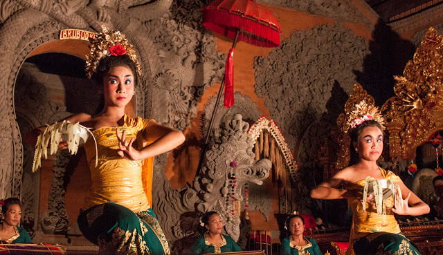 The art of Balinese dance is in the hands and eyes.