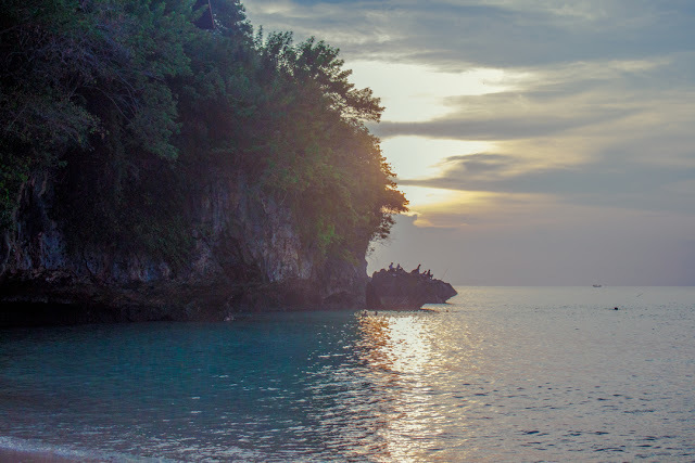 Padang Padang cove at sunset