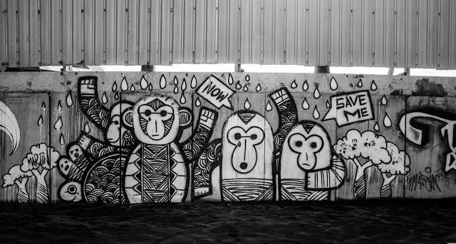 Canggu beach art.