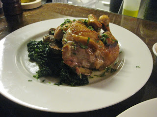 Spit-roasted 1/2 Chicken, Baby Yukons, Mustard Greens