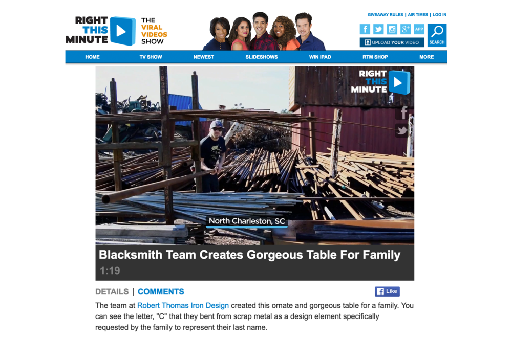 Blacksmith Team Creates Gorgeous Table for Family - Click to see more.
