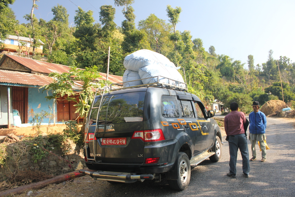 Our overladen jeep