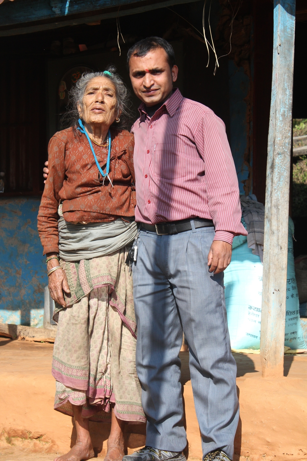 Our amazing driver Ram, with his grandmother