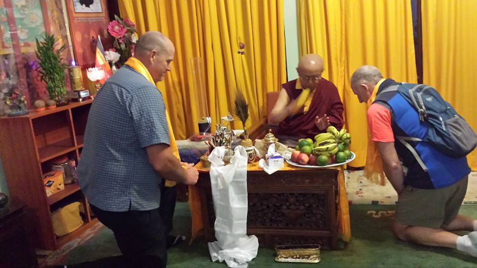 Pre climb puja & blessing