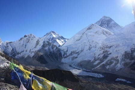 View of Everest from Kalipather Ganesh - photo courtesy of Nature Treks