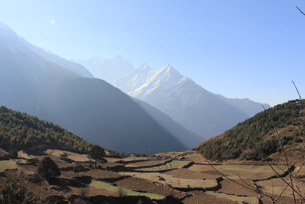 Walk through the splendid valley's of the Kumbu