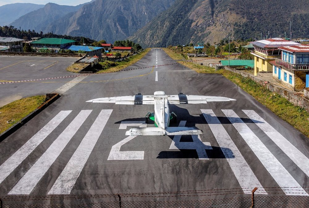 To begin the trek and for an extra thrill! An expert pilot will fly you into Lukla, known as one of the most dangerous airports in the world!