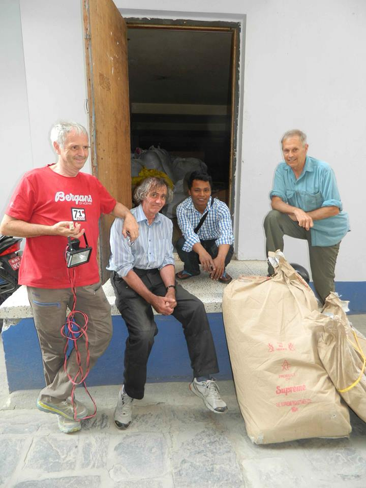 David Durkin and the team who went far and beyond to get supplies to Rasuwa for us