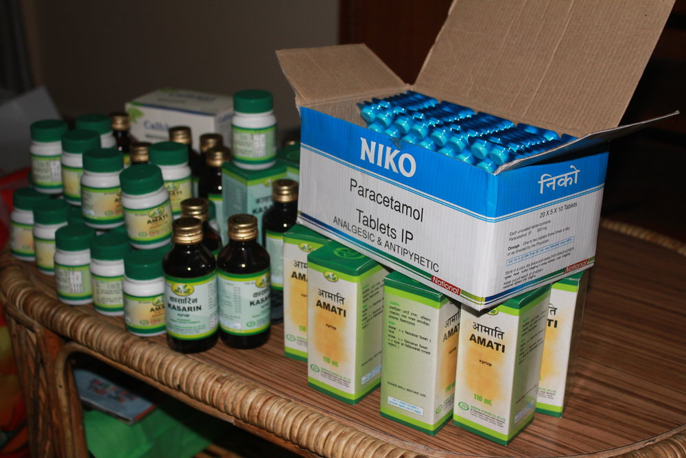 some of the medical supplies delivered