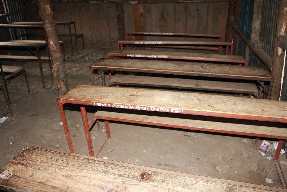desks supplied to rural schools