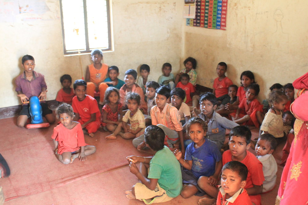 children attending classes at the kilns