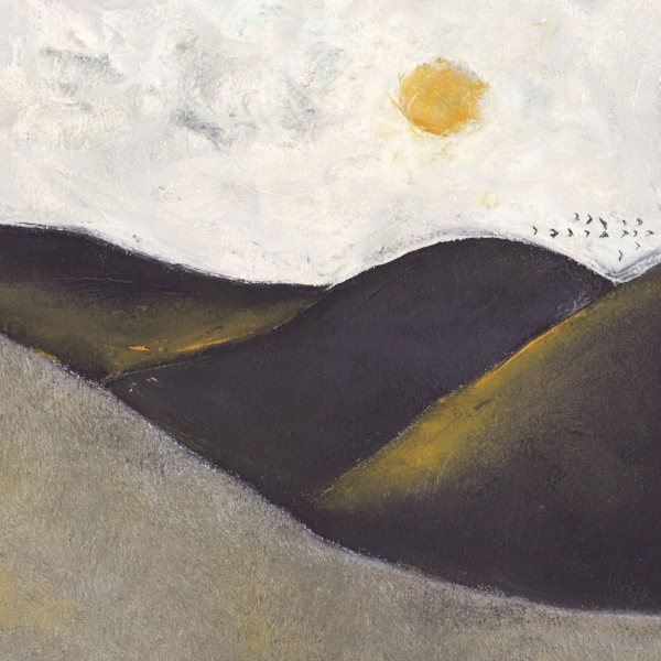 Landscape with Sun and Birds, Nicholas Abanavas
