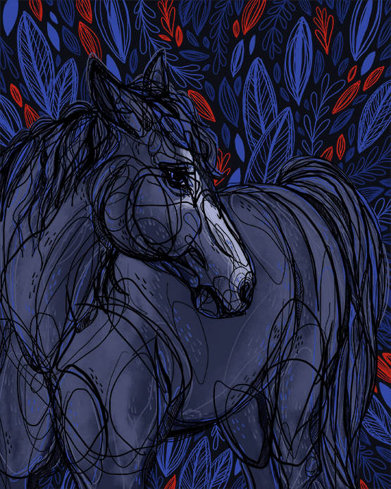 Valor Wild Horse Inked in Red 555 .jpg